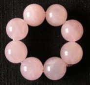 Perle indienne en quartz rose
